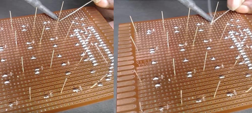 Installing the LED cube2