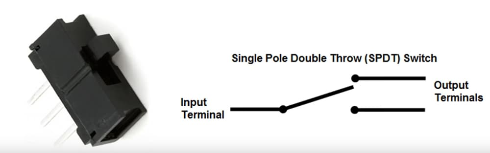 what is a single pole double throw switch