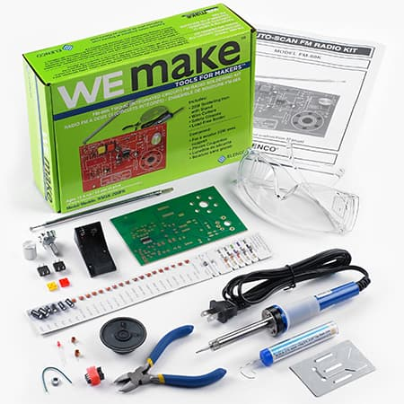 WEmake FM Radio DIY Soldering Kit with Tools review