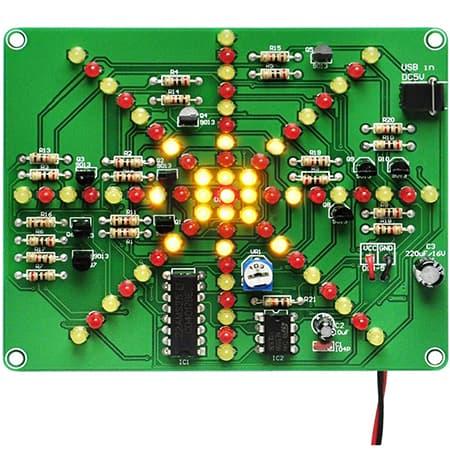 Gikfun Electronic Soldering Practice Board PCB DIY Kit EK1874 review