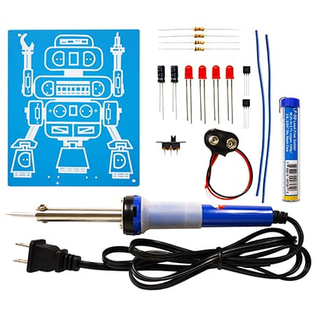 Elenco LED Robot Blinker Soldering Kit with Iron and Solder review