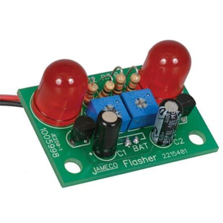 Jameco Kitpro JE250 Red Jumbo LED Flasher Electronics Solder Kit review