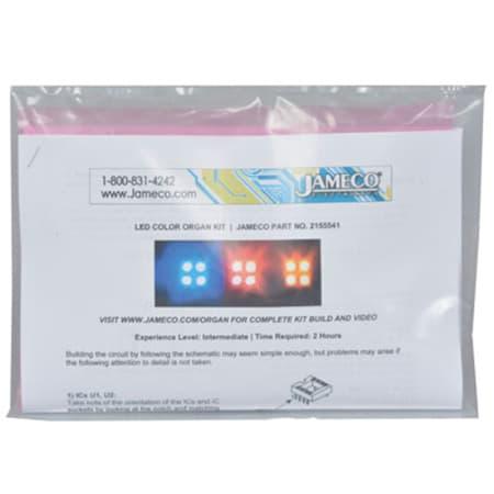 Jameco Kitpro KIT-COLORORGAN Circuit Skills Easy LED Color Organ Kit review